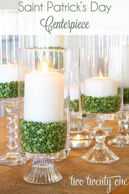 saint patricks day centerpiece