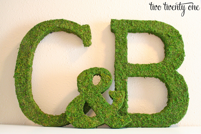 moss covered initials