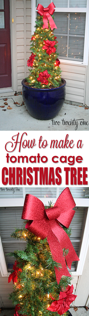 Tomato Cage Christmas Tree - Two Twenty One