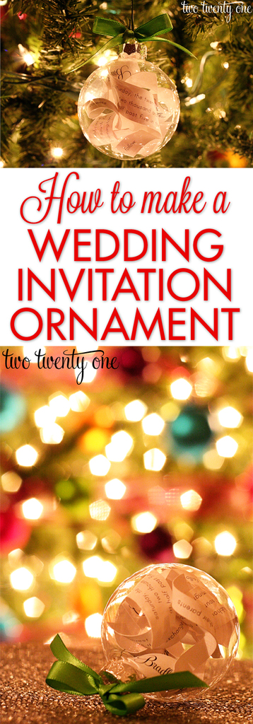 how to make a wedding invitation ornament