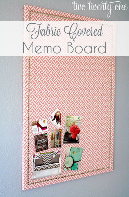 fabric covered memo board