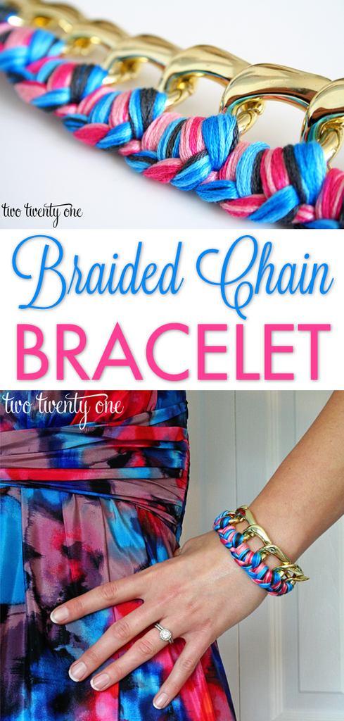 EASY braided chain bracelet tutorial!