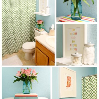 Guest Bathroom Makeover Shopping List