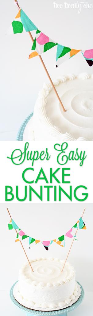 Super easy cake bunting!