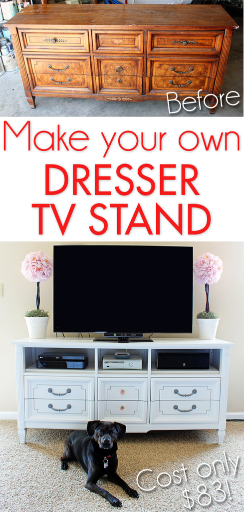 Make your own dresser TV stand!