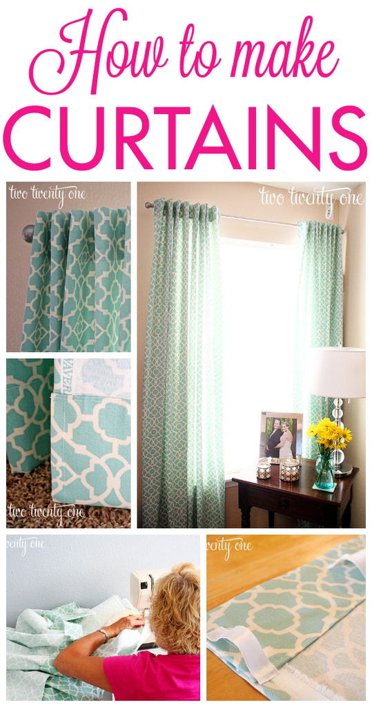 How to Make Curtains {DIY} - Two Twenty One