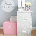 stenciled file cabinet 1