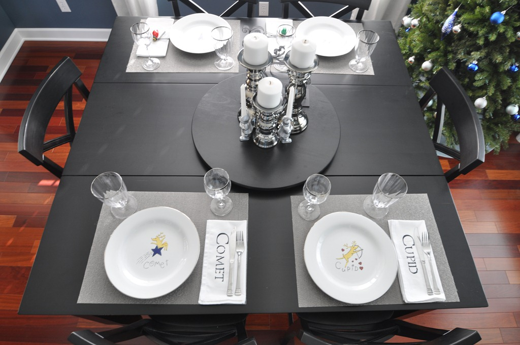 decor and the dog table setting