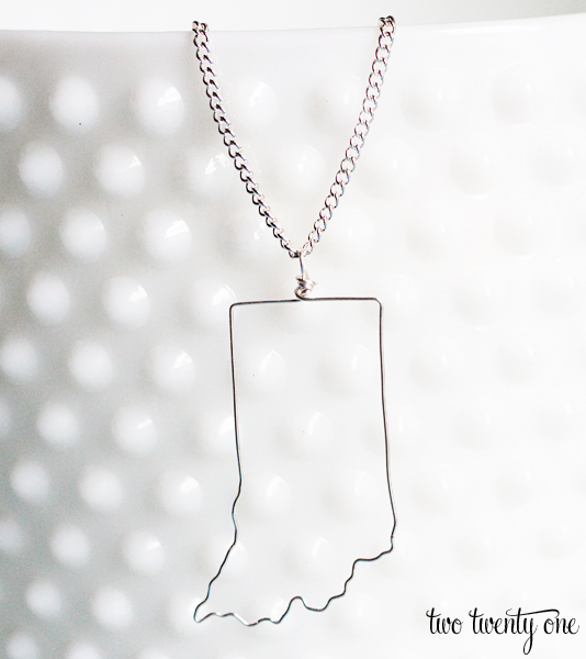 How to make a state necklace diy two twenty one it aloadofball Gallery
