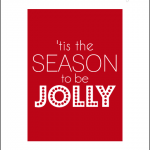 red tis the season printable 8x10