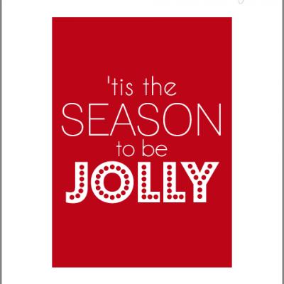 'Tis the Season to be Jolly Print {Free Printable}