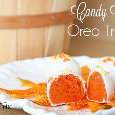 Candy Corn Oreo Truffles {Oreo Truffles}