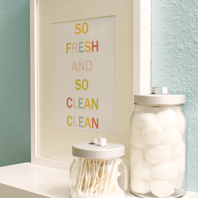 Colorful Bathroom Printable {Free Printable} {Word Art}