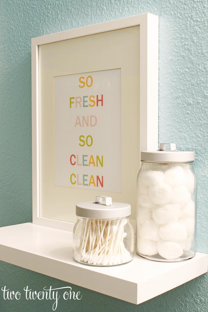 . Colorful Bathroom Printable  Free Printable   Word Art