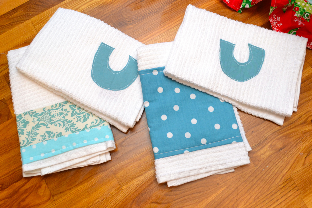 handmade kitchen towels by newlywoodwards