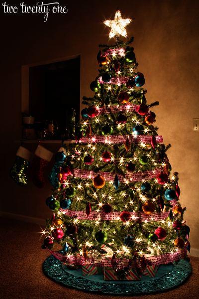jewel tone christmas tree
