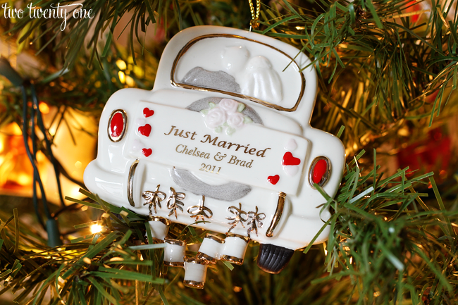 just married christmas ornament christmas cards