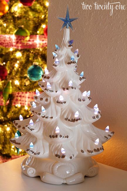 white ceramic christmas tree - White Ceramic Christmas Tree