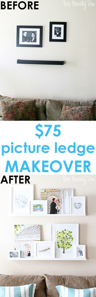 Wow! $75 picture ledge makeover! No building required!
