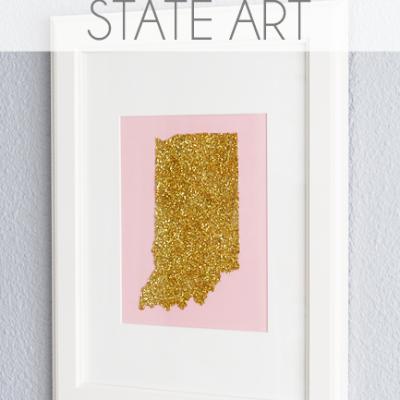 Glitter State Art {DIY}
