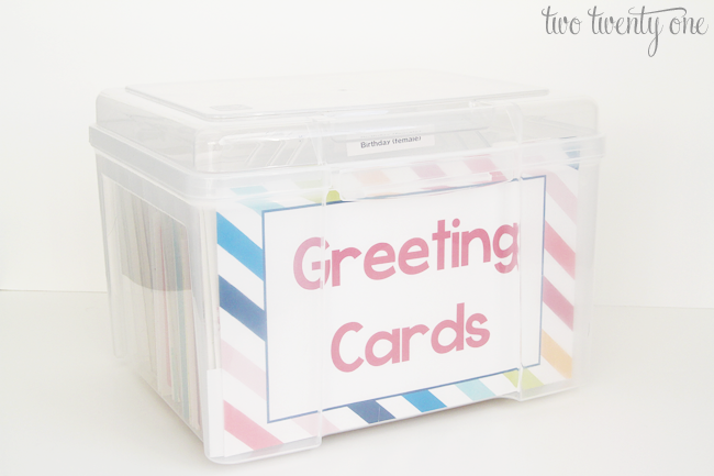 Greeting Card Organizer Two Twenty One – Birthday Cards in a Box