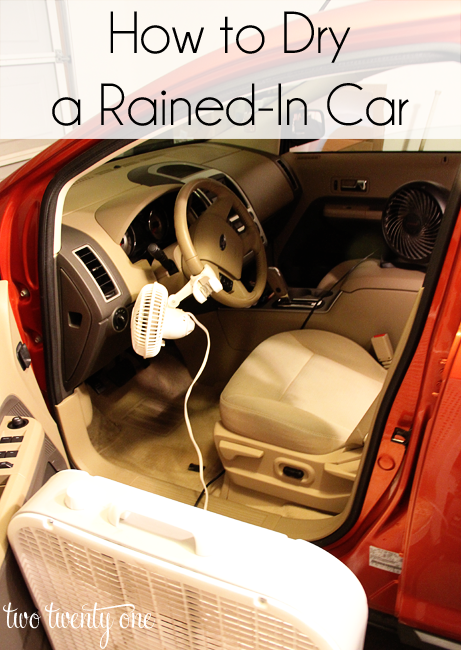 how to dry a rained-in car