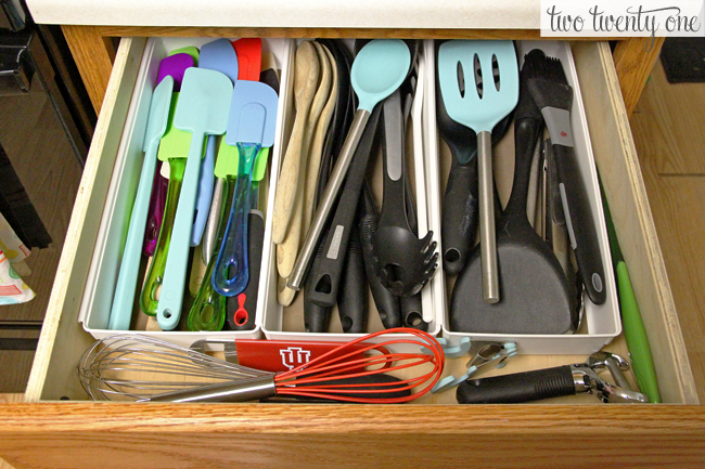 Organizing the kitchen utensil drawer two twenty one kitchen utensil organization workwithnaturefo