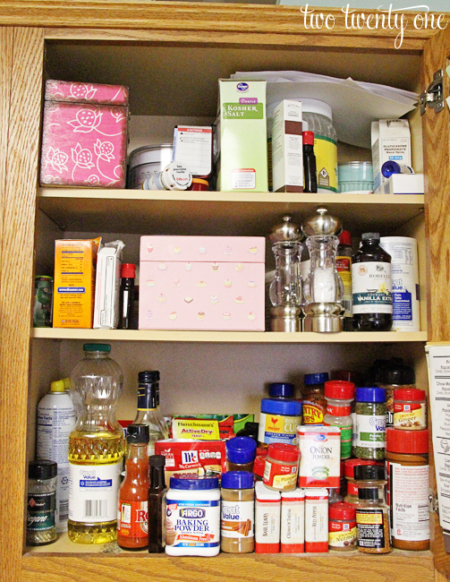 messy kitchen cabinet