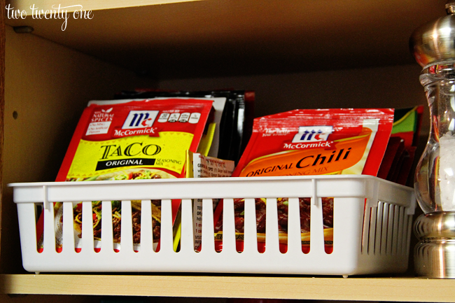 organized spice packets