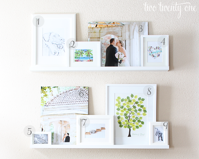 Living Room Picture Ledges {Picture Ledge} - Two Twenty One