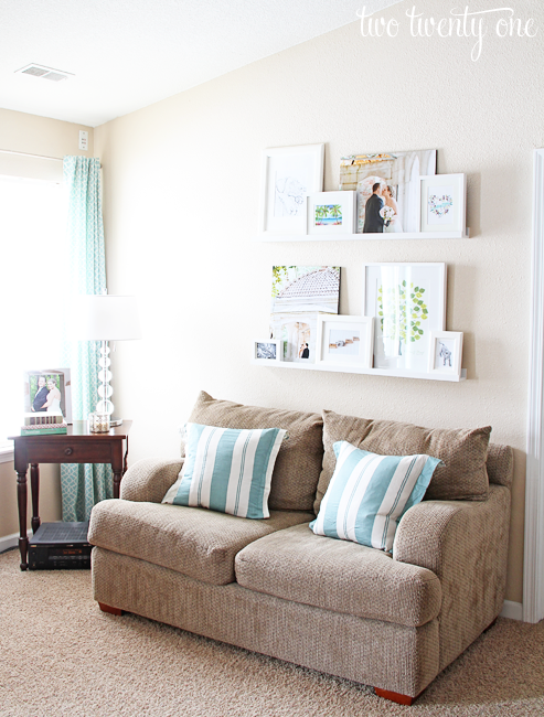 Living room picture ledges picture ledge two twenty one - Living room picture ...