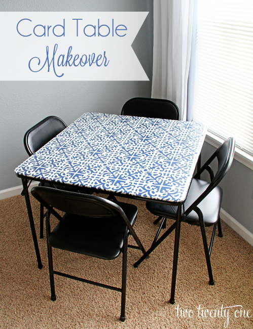 Card Table Makeover Two Twenty One