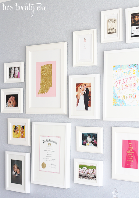 Gallery Wall With Ikea Picture Frames