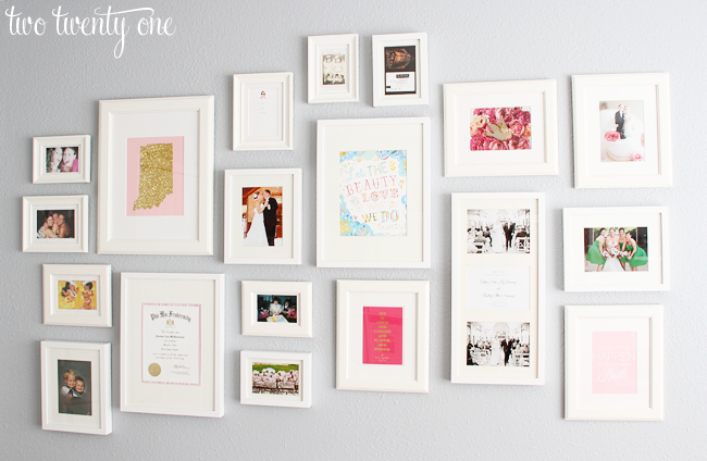 Photo Wall Ideas With Different Frames : Home office gallery wall decorating ideas two twenty one