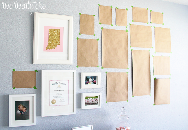 Ideas For Hanging Pictures On Wall Without Frames home office gallery wall {decorating ideas} - two twenty one
