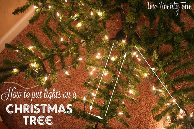 how to put lights on christmas tree 1