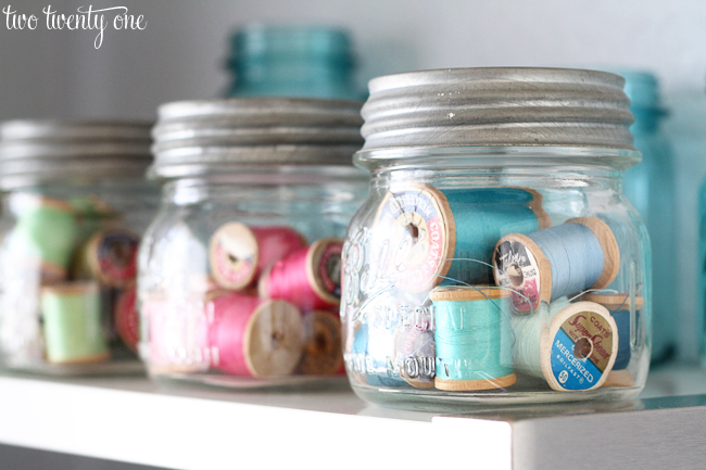 ball mason jars used for craft storage