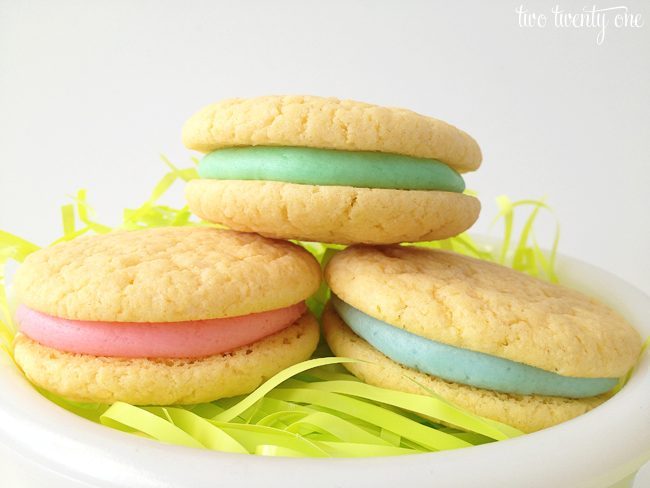 easter sandwich cookies