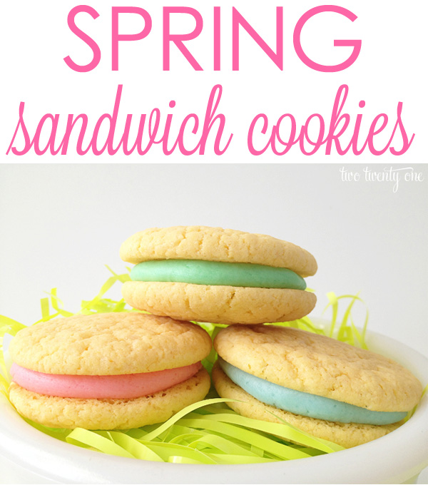 DELICIOUS and easy-to-make spring sandwich cookies!