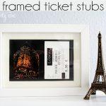 framed ticket stubs