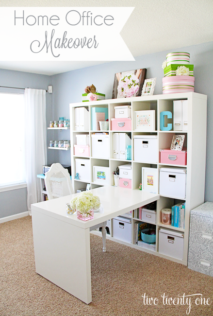 Home Office Makeover Reveal - Two Twenty One