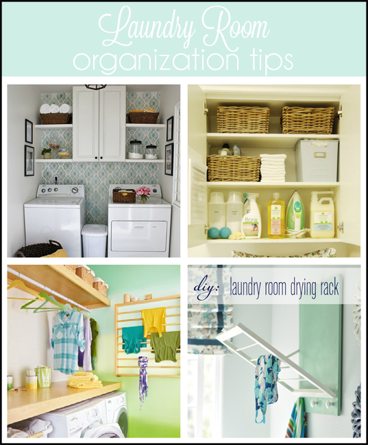 laundry organization collage