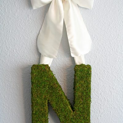 Spring Moss Monogram Wreath