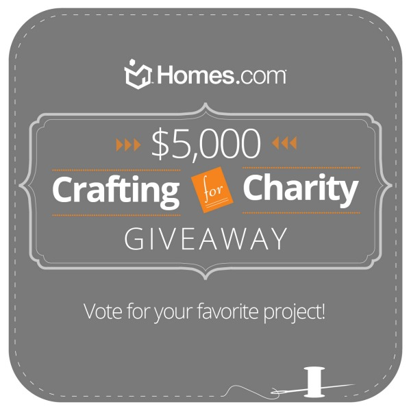 Homes.com crafting for charity