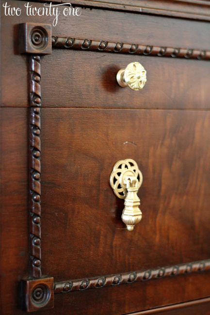 antique buffet hardware