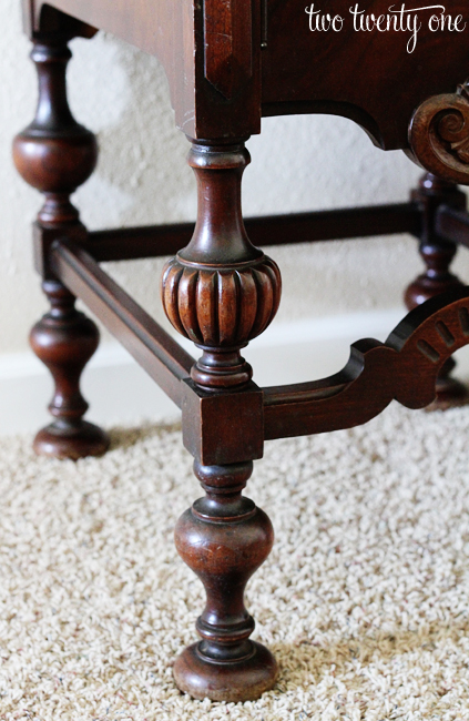antique buffet legs