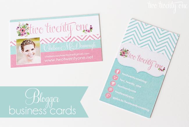 Blogger business cards colourmoves