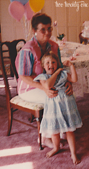 grandma june and me