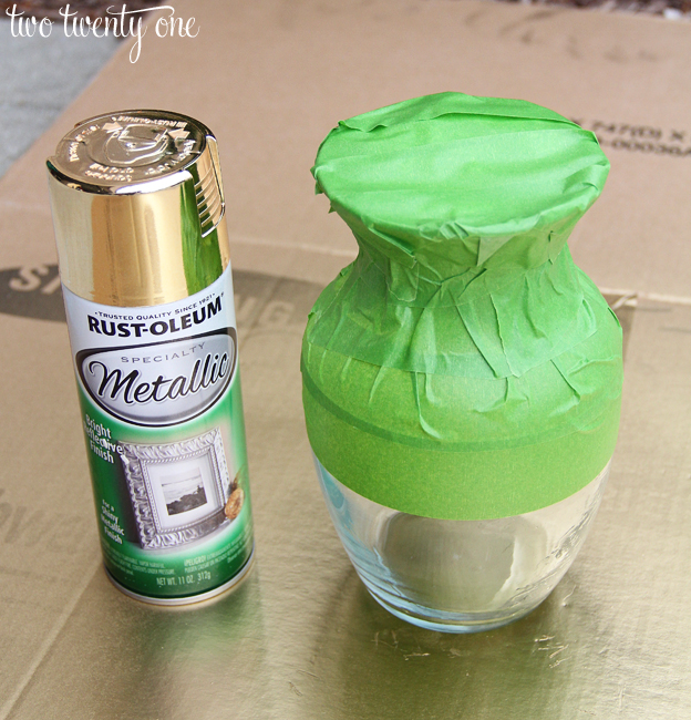 Diy gold dipped vase for How to make metallic paint