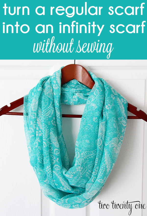Fast and easy no-sew project!